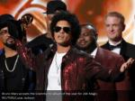 bruno mars accepts the grammy for album