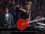 jon baptiste and gary clark jr perform a tribute