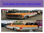 truck body and paint lemon grove