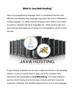 what is java web hosting