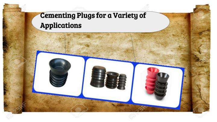cementing plugs for a variety of applications n.