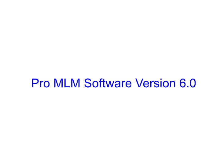 pro mlm software version 6 0 n.