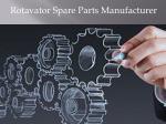 rotavator spare parts manufacturer