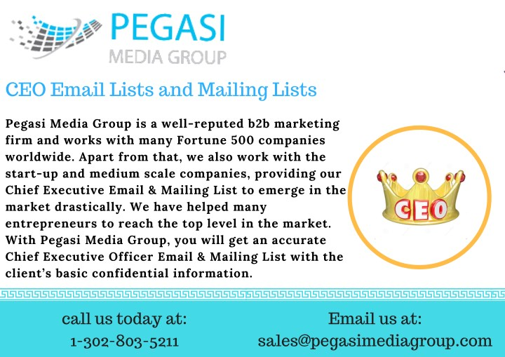 ceo email lists and mailing lists n.