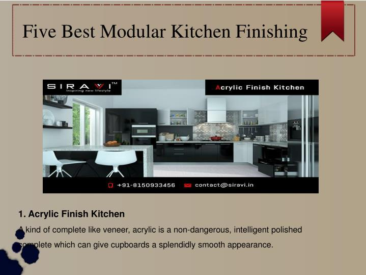 five best modular kitchen finishing n.