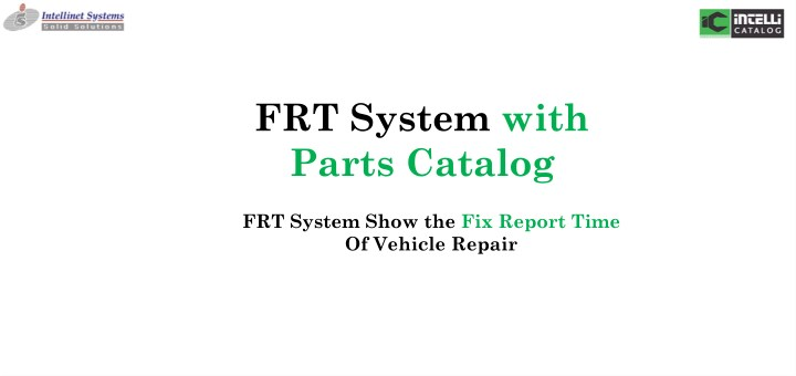 frt system with parts catalog n.