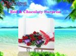 red chocolaty surprise