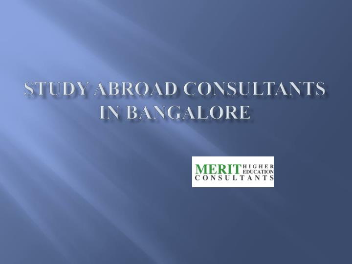 study abroad consultants in bangalore n.