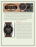 the fossil coachman chronograph black dial brown