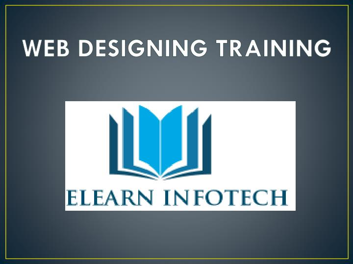 web designing training n.