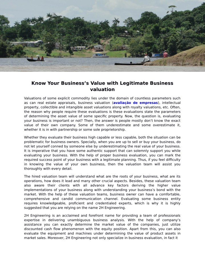 know your business s value with legitimate n.
