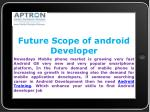 future scope of android developer