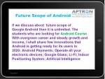 future scope of android