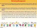 marketing management q1 assume that you are going