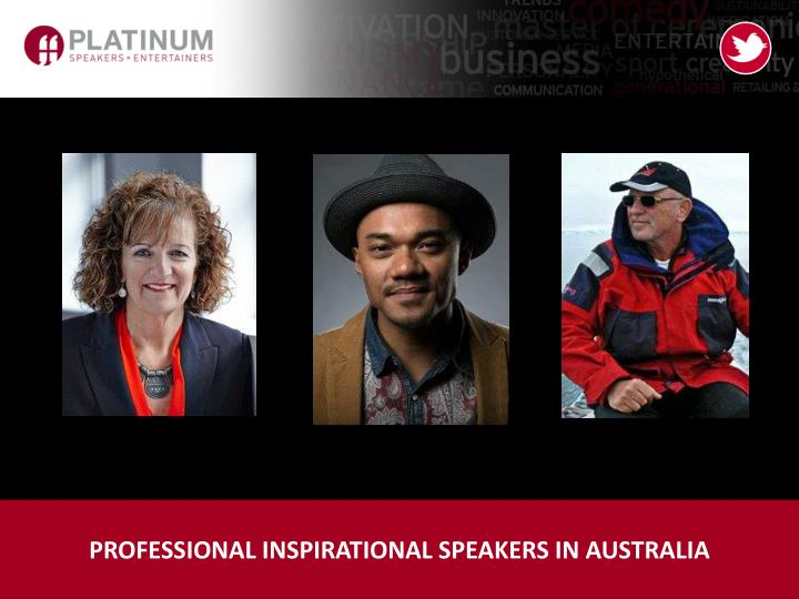 professional inspirational speakers in australia n.