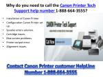 why do you need to call the canon printer tech support help number 1 888 664 3555