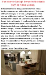 for interior design toronto residents turn