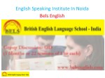 english speaking institute in noida bels english