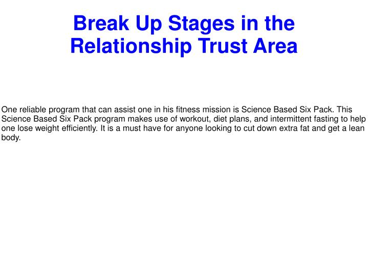 break up stages in the relationship trust area n.