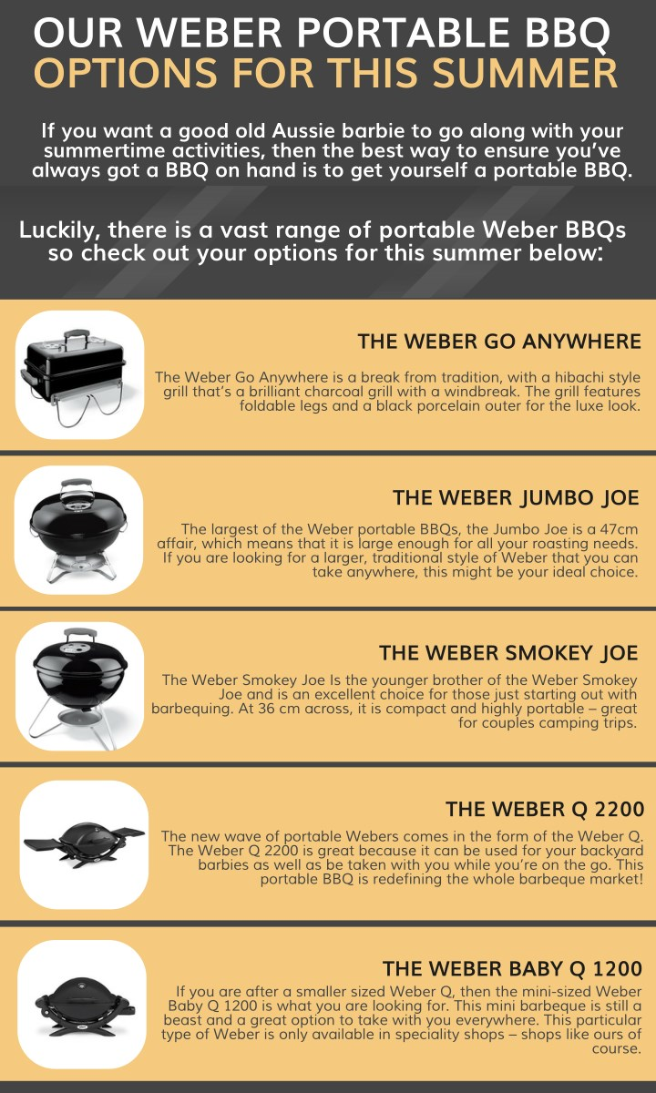 our weber portable bbq options for this summer n.