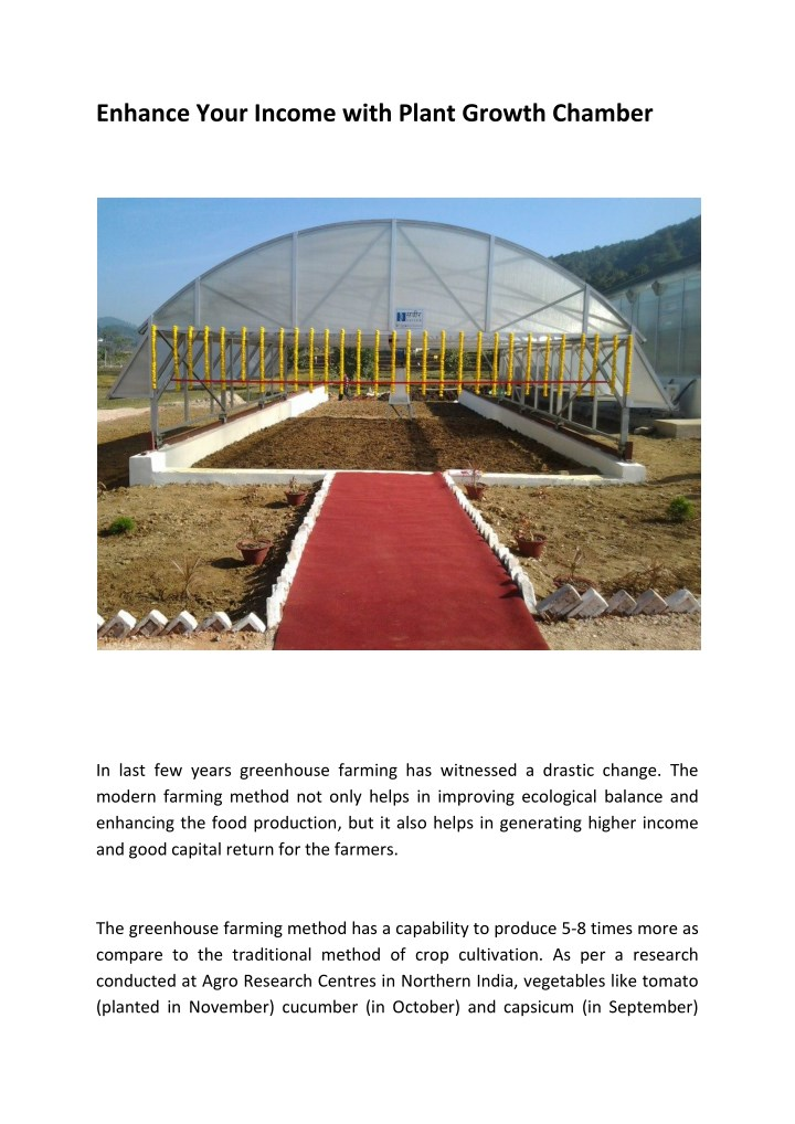 enhance your income with plant growth chamber n.