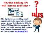 how bus booking api will increase your sales