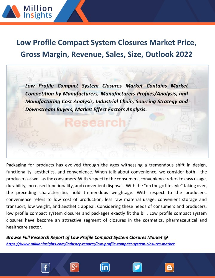 low profile compact system closures market price n.