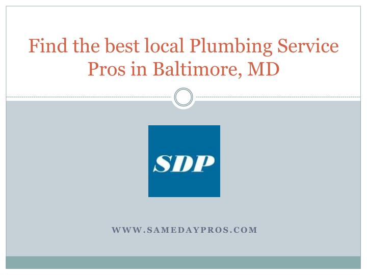find the best local plumbing service pros in baltimore md n.