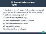 air transat airlines cheap flights