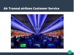 air transat airlines customer service