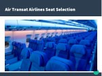air transat airlines seat selection