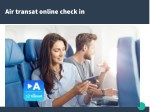 air transat online check in