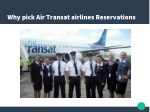 why pick air transat airlines reservations