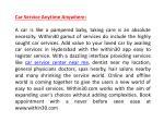 car service anytime anywhere
