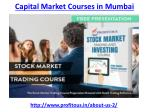 capital market courses in mumbai 2