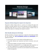responsive website design gives superior user