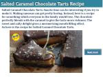 salted caramel chocolate tarts recipe