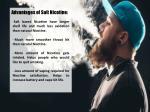 advantages of salt nicotine