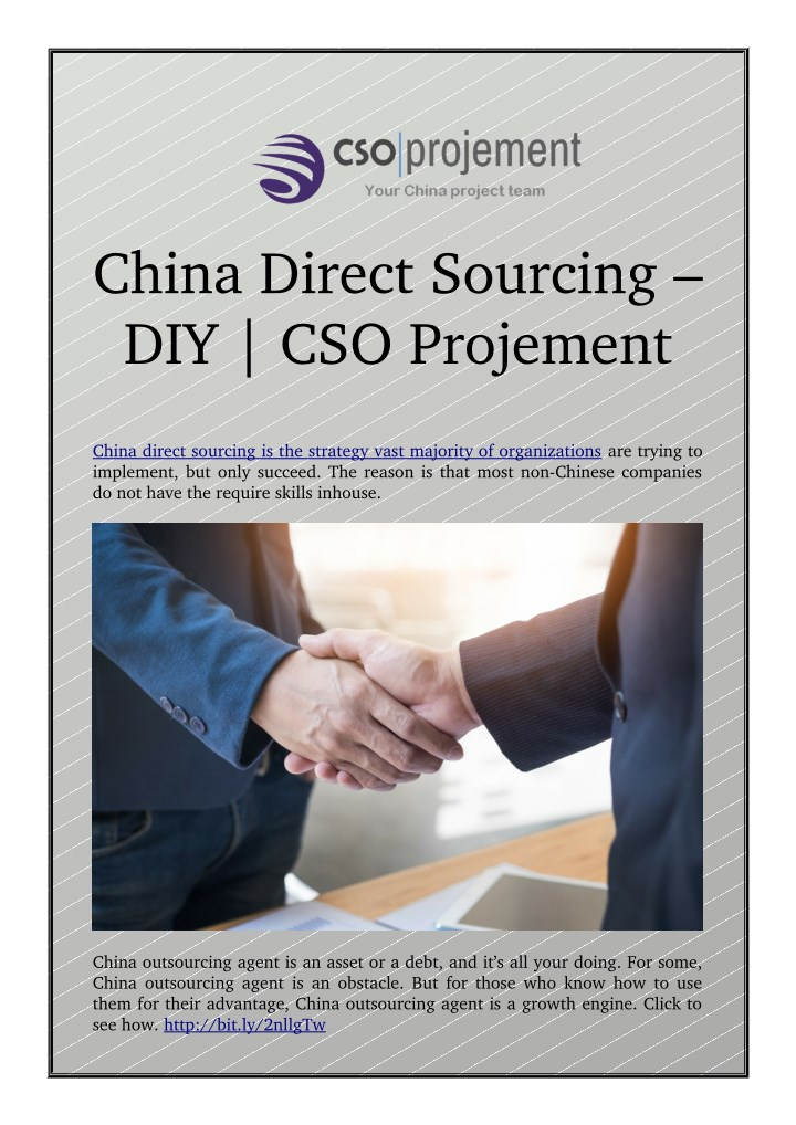 china direct sourcing diy cso projement n.