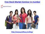 free stock market seminar in mumbai 2