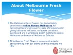 about melbourne fresh flower