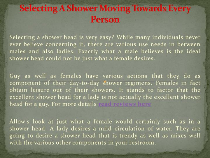 selecting a shower moving towards every person n.