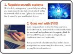 1 regulate security systems