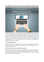 why offline data entry is important for your