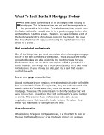 what to look for in a mortgage broker irst time