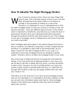 how to identify the right mortgage broker w