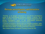 training is an integral component of any private