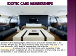 exotic cars memberships