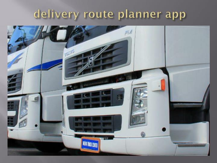 delivery route planner app n.