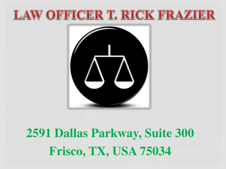 law officer t rick frazier n.